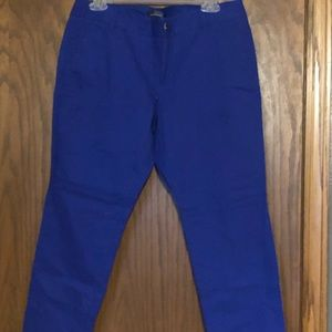 The Limited Royal blue size 8 NWOT chinos
